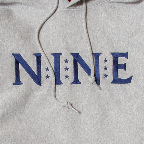 NINE LOGO EMBROIDERY SWEAT HOODIE
