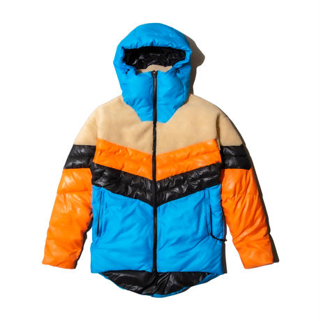 Nylon and Boa Combi Puffed Jacket