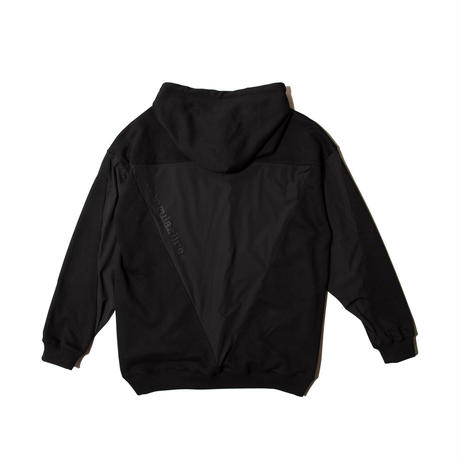 Sweat and Nylon Combi Crew Hoodie