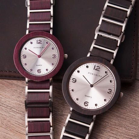 BOBO BIRD ボボバード 木製腕時計 ペア 6mm薄型時計 メンズ レディース 40mm/35mm