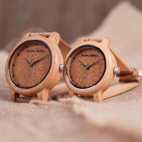 BOBO BIRD ペアウォッチ 竹製腕時計 バンブー メンズ レディース コルクストラップ 日本製クォーツムーブ搭載