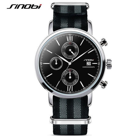 new styles 827d1 ec791 007風 ジェームズ・ボンド クォーツ腕時計 ナイロンストラップ ...