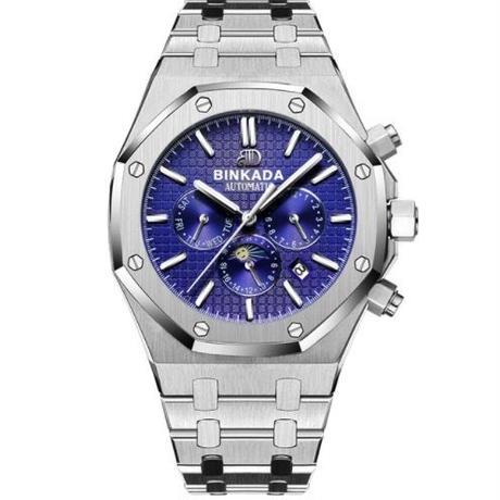 BINKADA 自動巻き 機械式腕時計 メンズ  ステンレス 41mm 3気圧防水 3色展開