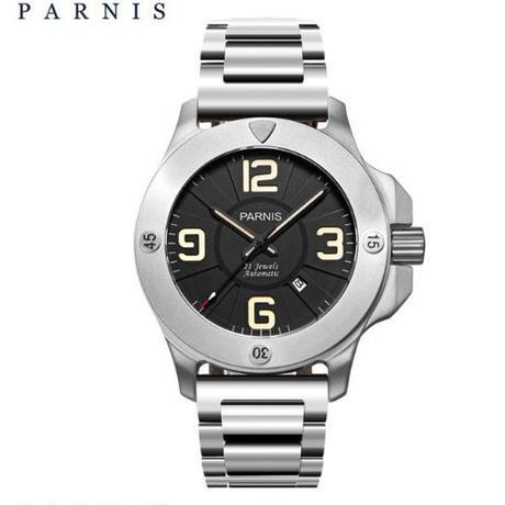 Parnis 自動巻 47mm メンズ腕時計 ミリタリーウォッチ サファイアクリスタル