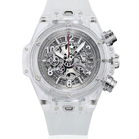 [選べる7色] KIMSDUN スケルトン腕時計 メンズ クォーツムーブメント