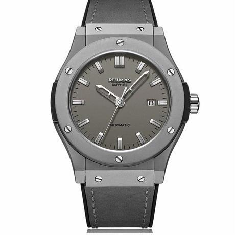 RUIMAS メンズ腕時計 自動巻機械式 レザーバンド 45mm 日本ミヨタ製ムーブ搭載