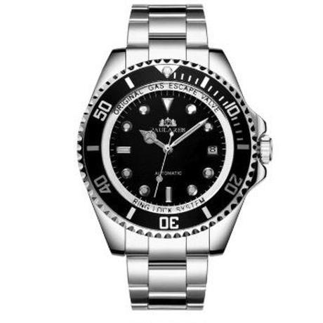 PAULAREIS P 自動巻腕時計 メンズ 45mm ステンレスバンド 回転ベゼル