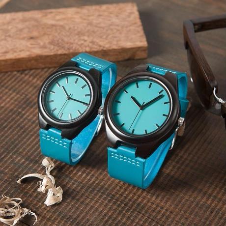 BOBO BIRD ボボバード 木製腕時計 ペアウォッチ メンズ レディース エボニー ナチュラルブルー