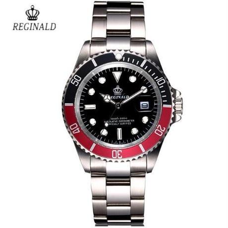 Reginald メンズ クォーツ腕時計 カラバリ5色 ステンレス