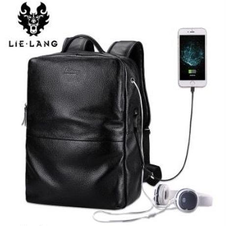 LIELANG メンズバックパック ラップトップバッグ スマホ充電 ヘッドホンケーブル対応