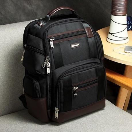 BOPAI メンズ リュック バックパック 大容量 15.6インチラップトップ対応 ブラック
