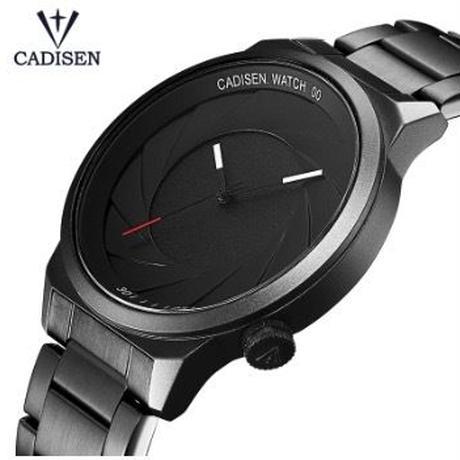 CADISEN  メンズ クォーツ腕時計 シンプルデザイン