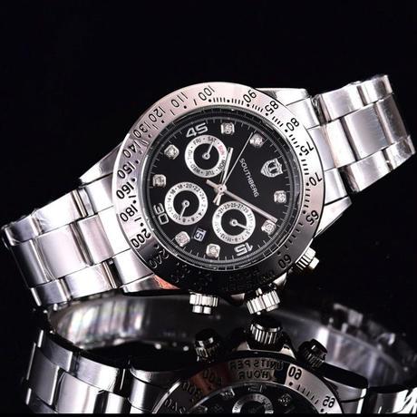 SOUTHBERG メンズ クォーツ腕時計 デイトナスタイル 40mm 全13カラー