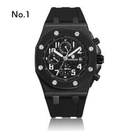 KIMSDUN メンズ 機械式腕時計 自動巻 カラバリ14色 オマージュウォッチ