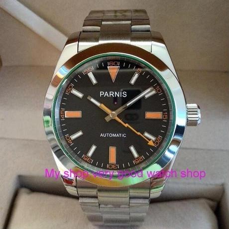 Parnis 40mm 自動巻き 機械式腕時計 メンズ サファイアガラス 日本製ムーブメント