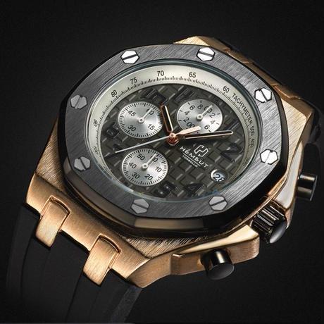 [オーデマピゲに似ている腕時計] Torbollo クォーツ腕時計 クロノグラフ メンズ ラバーストラップ  カラバリ4色