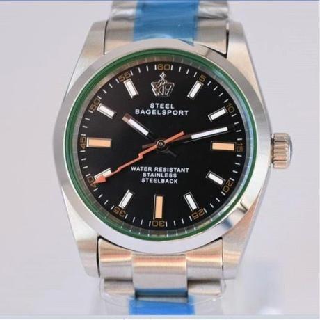 SteelBagelsport 自動巻き 機械式腕時計 ステンレス 36mm  A019 カラバリ6色