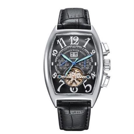 KIMSDUN メンズ 自動巻腕時計 機械式 トノー型ケース 全5色
