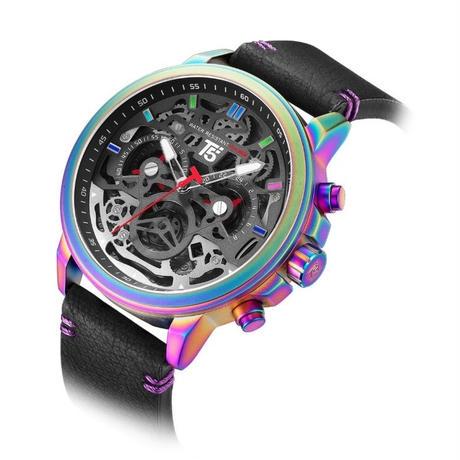 T5 メンズ クォーツ腕時計 48mm 日本製ムーブ搭載 クロノグラフ レインボーケース 他6色 カジュアルスポーツ