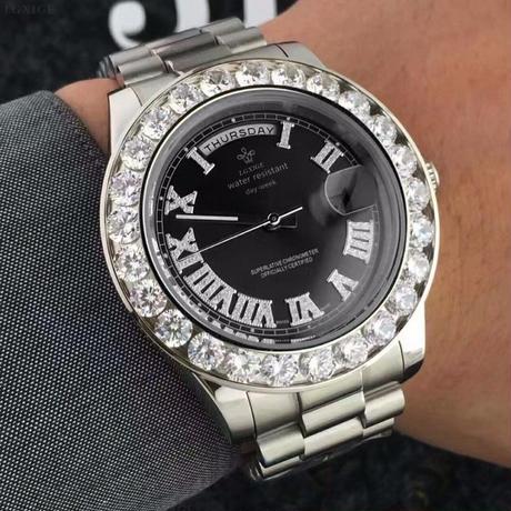 LGXIGE クォーツ腕時計 デイデイトスタイル メンズ 40mm