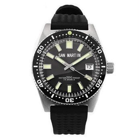 San Martin メンズ  自動巻腕時計 200m防水 セイコーNH35ムーブ