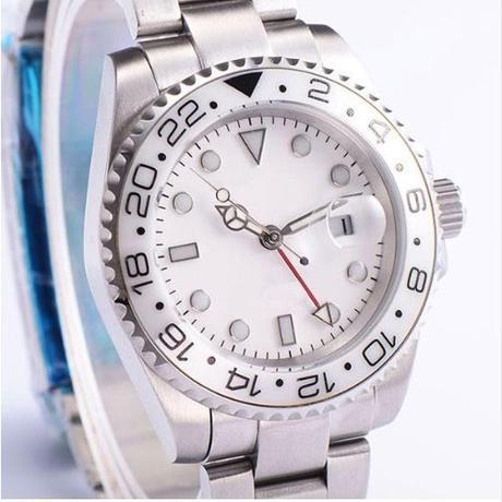 Bliger 自動巻 機械式腕時計 メンズ セラミックベゼル レッドGMT 40mm