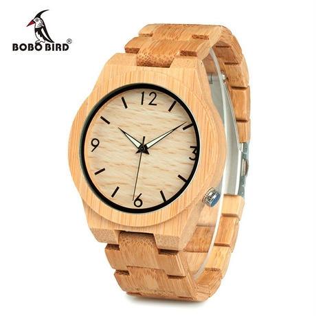 BOBO BIRD 木製腕時計 45mm クォーツ 日本ミヨタムーブ搭載 シンプルデザイン