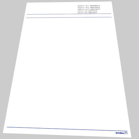 """デジタル紙雑貨「A4プリント」8designs """"emdex Form"""""""