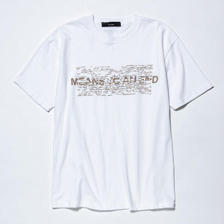 Hidden Print Tee×Ray Masaki/WHITE  [MW-CT19105]