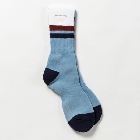 Pile Line Socks/SAX x NAVY [MW-AC18110]