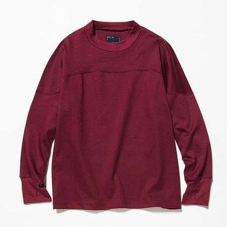 GIZA Cotton Round Yoke L/S Tee/WINE [MW-CT18205]