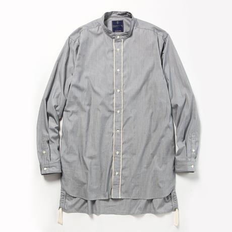 Pinstripe Long Shirt/CHARCOAL [MW-SH18104]