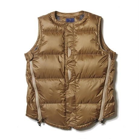 Loop Zip Down Vest/COYOTE