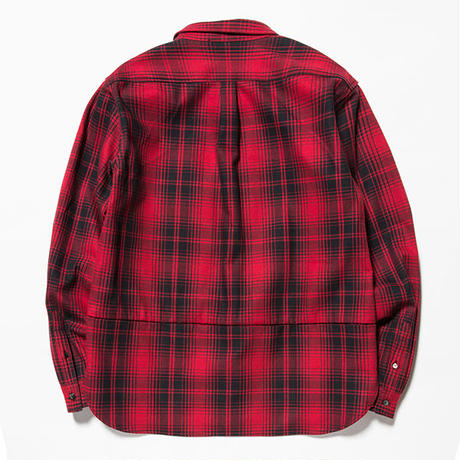 Flannel Check Shirt Jacket/RED [MW-JKT18201]