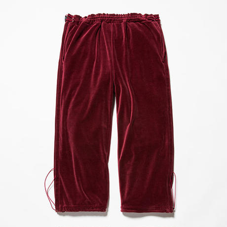 Velour Popper Pants/WINE [MW-PT18204]