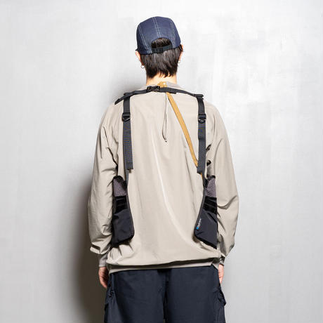 Split Luggage Vest×master-piece (Black) / [MW-JKT20109]