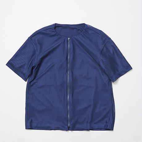 Water-repellent/Mesh Reversible 4Way S.S SH/NAVY [MW-SH17107]