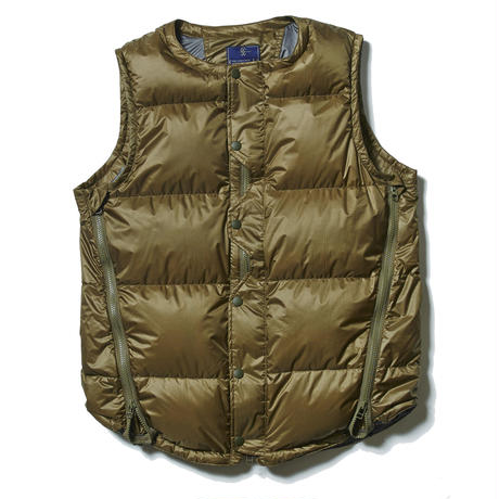 Loop Zip Down Vest/LEAF