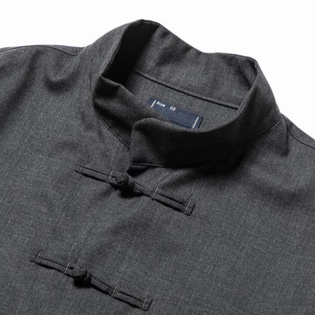 Wool Mao-Collar SH (Charcoal) / [MW-SH20101]