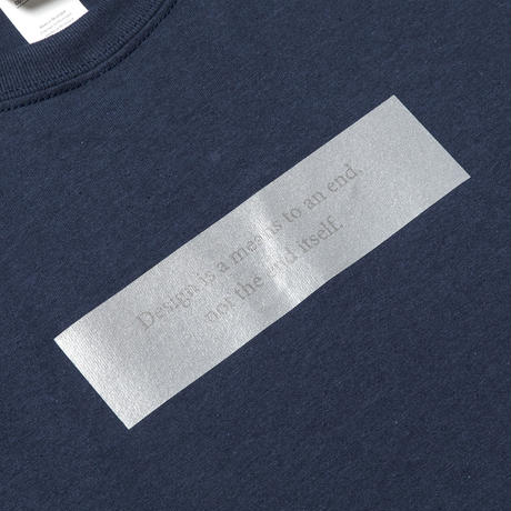 Lenticular Reflect Logo Tee (Navy) / [MW-CT20103]