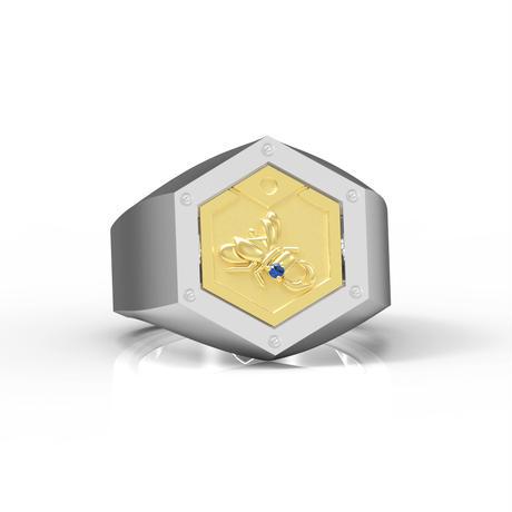【数量限定完全受注生産:2021年5月上旬発送予定】メダロットオフィシャルジュエリー「メダルリング」_PREMIUM(リング+クワガタメダル1枚)-MDST300-