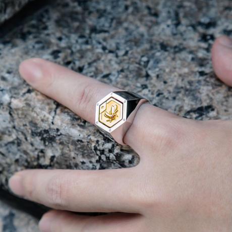 【数量限定完全受注生産:2021年5月上旬発送予定】メダロットオフィシャルジュエリー「メダルリング」_PREMIUM(リング+カブトメダル1枚)-MDST299-