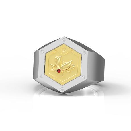 【数量限定完全受注生産:2021年5月上旬発送予定】メダロットオフィシャルジュエリー「メダルリング」_PREMIUM(リング+カブト・クワガタメダル各1枚)-MDST301-