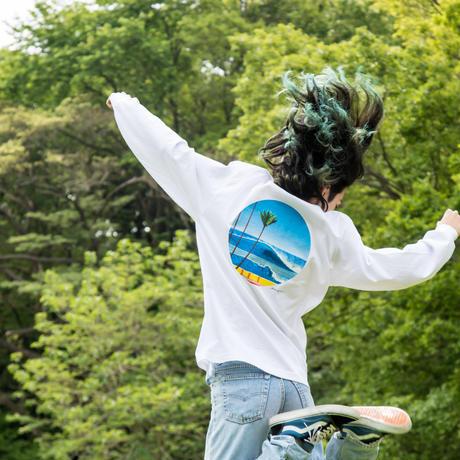 "<DUNNS RIVER""PON DE WAVE"" × 永井博> : ロンTee&マスクセット"