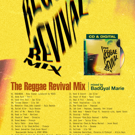THE REGGAE REVIVAL MIX mixed by BadGyal Marie CD盤