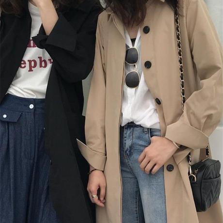 ベーシックステンカラーコート/ベージュ・ブラック