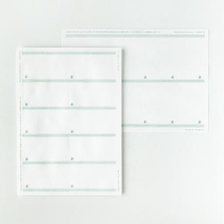 MEETS TAKEGAMI|NAMECARD SHEET(竹紙100ホワイト157g/㎡・縦型)