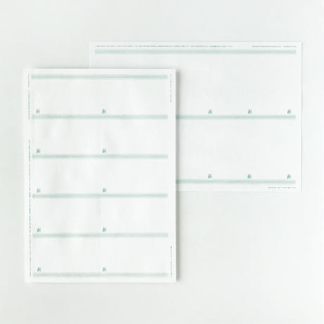 MEETS TAKEGAMI|NAMECARD SHEET(竹紙100ホワイト157g/㎡・横型)