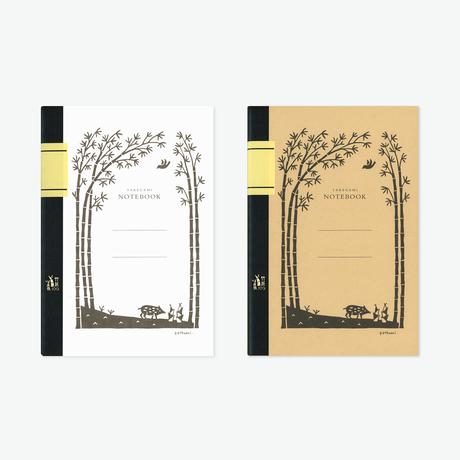 竹紙100ノート/ウリ坊(ホワイトとナチュラルの2冊セット)