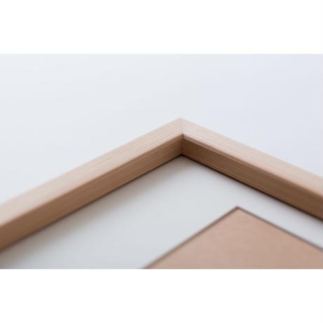 【photo frame】無垢材でできた南三陸杉フォトフレーム / A4